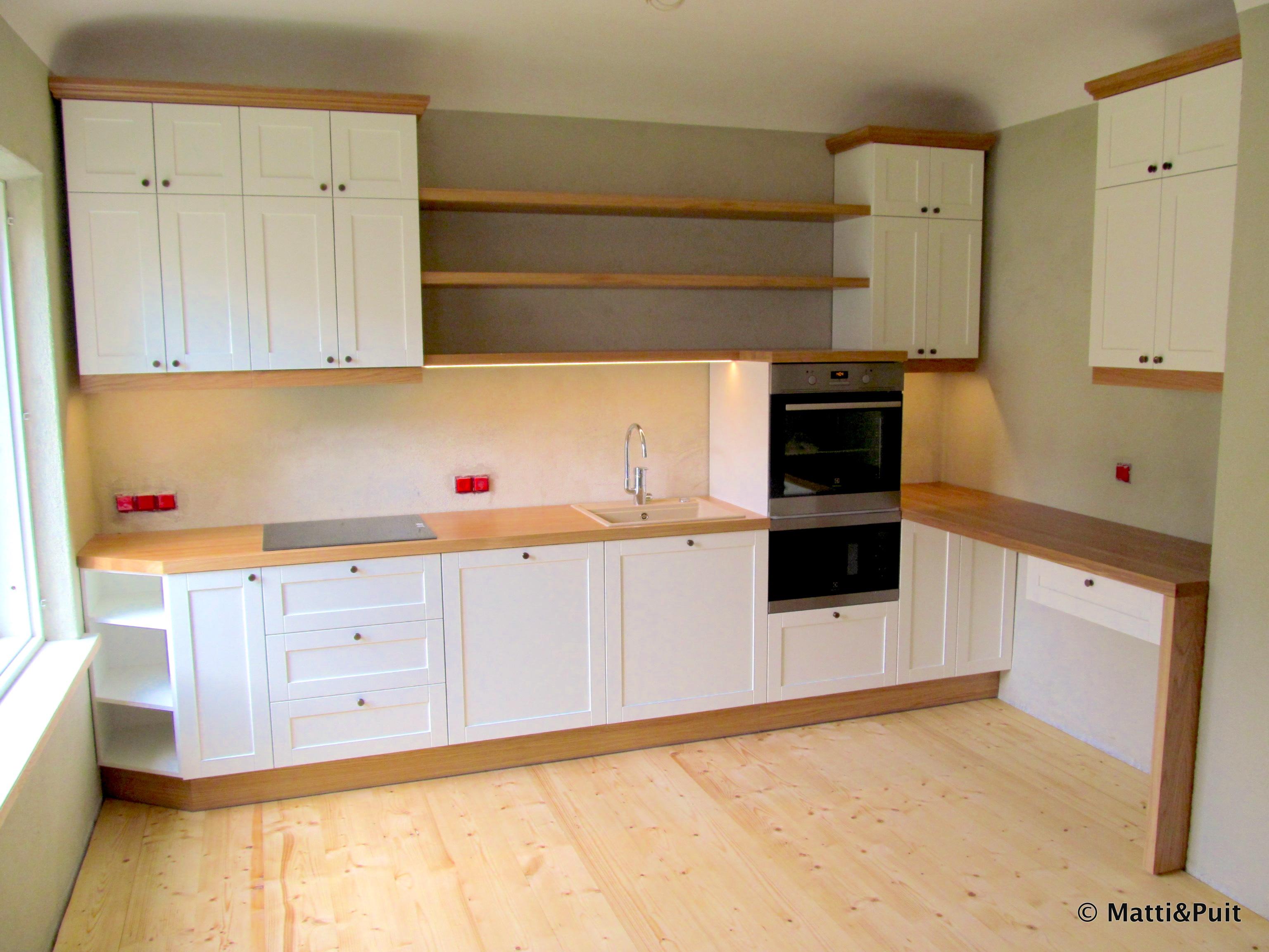 Täispuituste ja -tööpinnaga köögimööbel, mattipuit.ee
